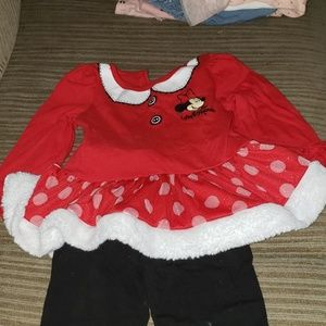 Minnie mouse outfit 2 piece long sleeve and tights